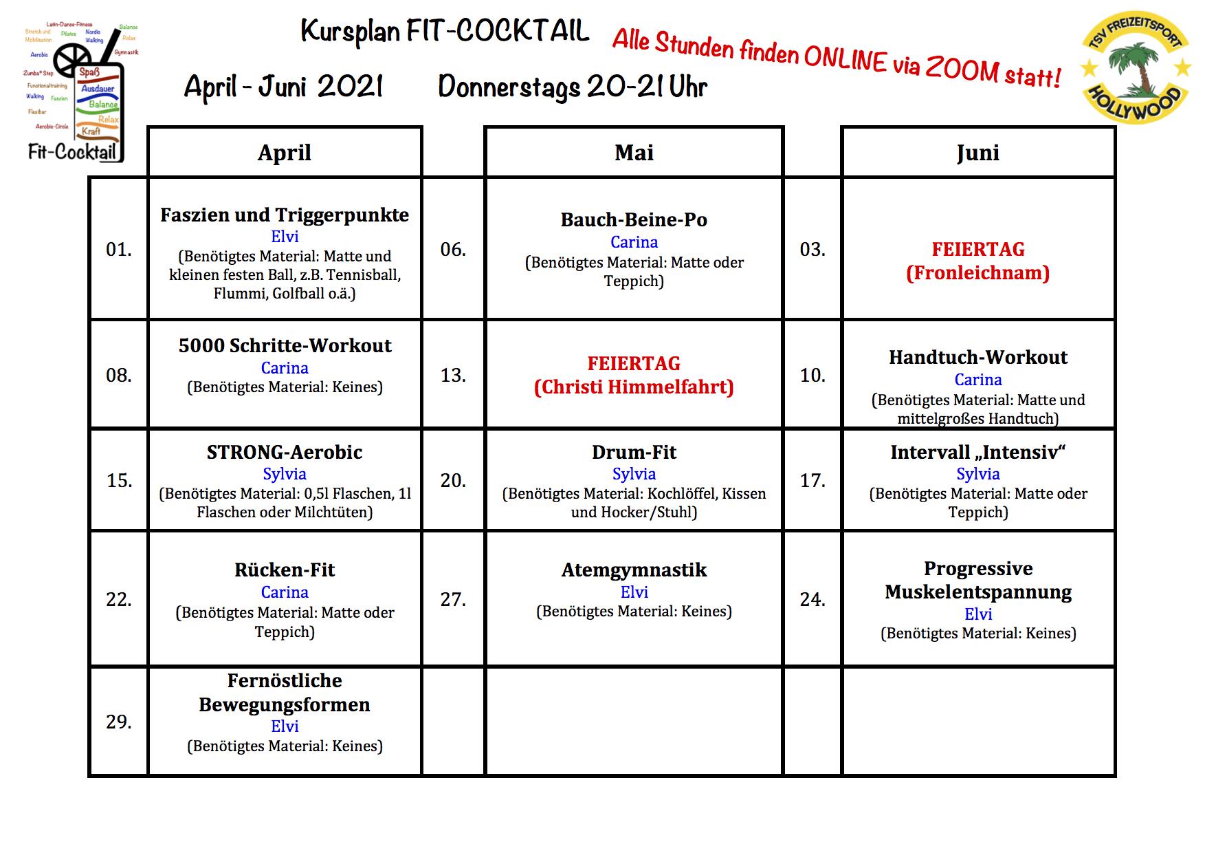 Fitcocktail Plan Online April-Juni2021